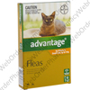 Advantage for Kittens and Small Cats up to 4kg (Imidacloprid) - 9.1% (4 x 0.4mL) P1