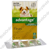Advantage for Puppies and Small Dogs (Imidacloprid) - 100g/L (4 x 0.4mL) P1