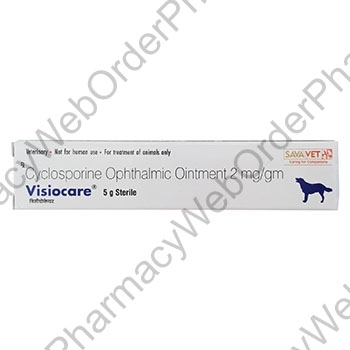 Visiocare Ointment (Cyclosporine) - 2mg/gm (5g) p3